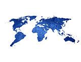 scratch vintage world map