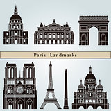 Paris landmarks and monuments