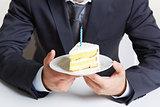 Holding cake