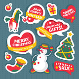 Christmas labels and decoration elements
