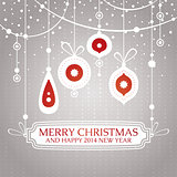 Christmas retro vintage greeting card