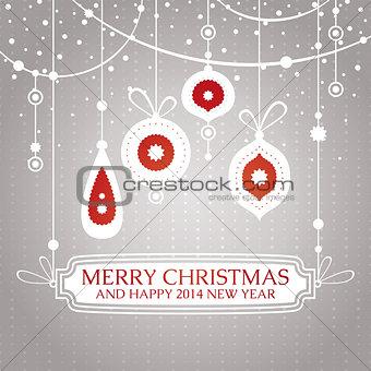 Christmas retro vintage greeting card