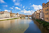 Panoramic view of Florence and Ponte Vecchi