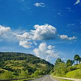 road in mountain. Ukrainian Carpathians