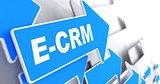 E-CRM. Information Technology Concept.