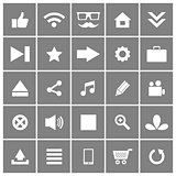 Universal Flat Vector Icons Set 1