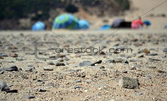 Ground of the beach