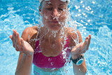 Female swimmer in pool