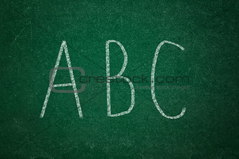 ABD on green chalkboard