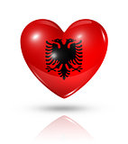 Love Albania, heart flag icon