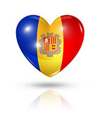 Love Andorra, heart flag icon