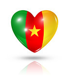Love Cameroon, heart flag icon