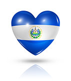 Love El Salvador, heart flag icon
