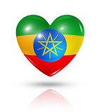 Love Ethiopia, heart flag icon