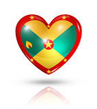 Love Grenada, heart flag icon