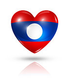 Love Laos, heart flag icon