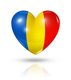 Love Romania, heart flag icon