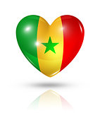 Love Senegal, heart flag icon