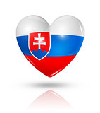 Love Slovakia, heart flag icon