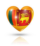 Love Sri Lanka, heart flag icon