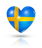Love Sweden, heart flag icon