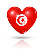 Love Tunisia, heart flag icon