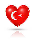 Love Turkey, heart flag icon