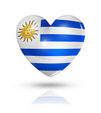 Love Uruguay, heart flag icon