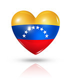 Love Venezuela, heart flag icon