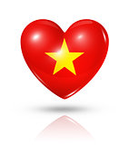 Love Vietnam, heart flag icon