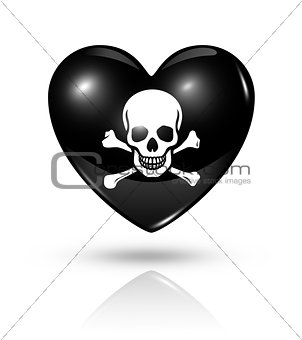 Love pirate, heart icon