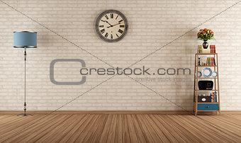 Empty vintage room