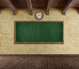 Grunge empty classroom