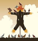 Scarecrow pigeons