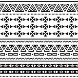 Tribal ethinc ztec seamless pattern