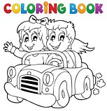 Coloring book car theme 1