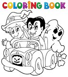 Coloring book Halloween character 8
