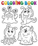 Coloring book monster theme 1