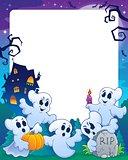 Halloween theme frame 1