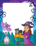 Halloween theme frame 4