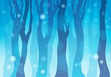 Winter forest theme image 1