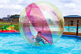 Zorbing. Entertainment on water