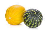Ripe melon and watermelon