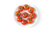 Fresh Cherry Tomatoes on plate