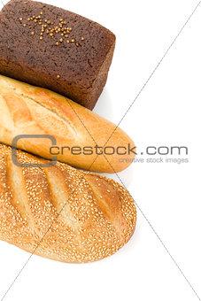 Three loafs of bread