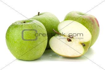 Three and half ripe apples