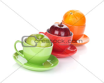 Apple and orange fruit tea