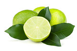 Fresh juicy limes