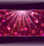 Abstract pink card with bokeh effect