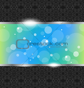 Abstract metallic background with floral texture